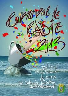 CARTEL DEL CARNAVAL DE CADIZ 2013
