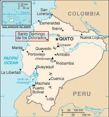 map ecuador santo domingo