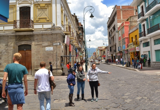 Walking through Riobamba
