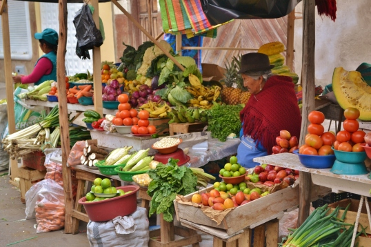 Local market in Riobamba on Saturday