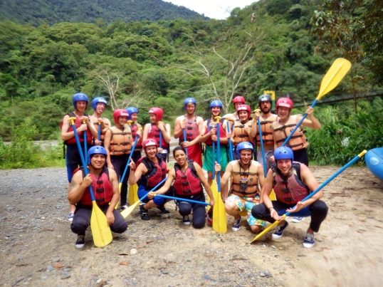 Banos white water rafting