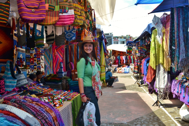 The Andes Otavalo crafts market